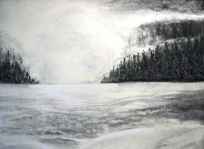 Atmosphère d'hiver en montagne