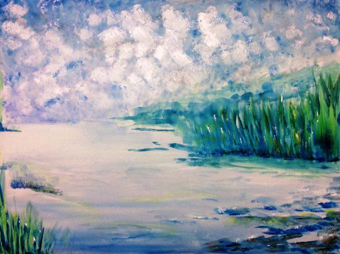 Rive d'un lac inconnu