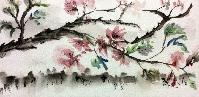 Des fleurs sur ma branche