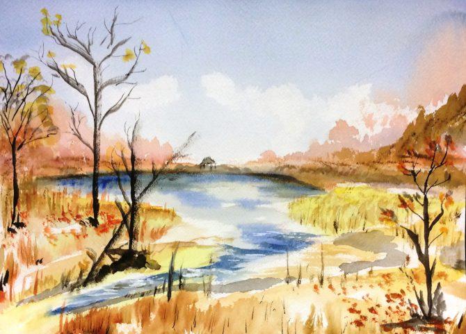 L'automne au marais bleu