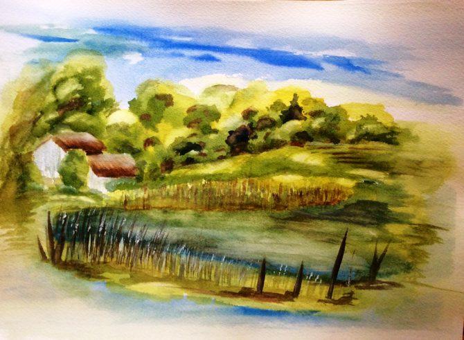 L'étang sur le chemin Boudreau