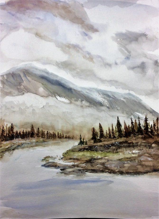 Brume au pied de la montagne