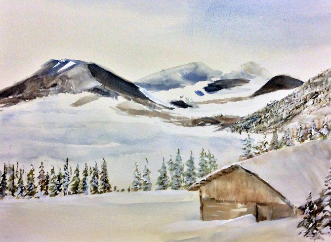 Dans la quiétude de l'hiver