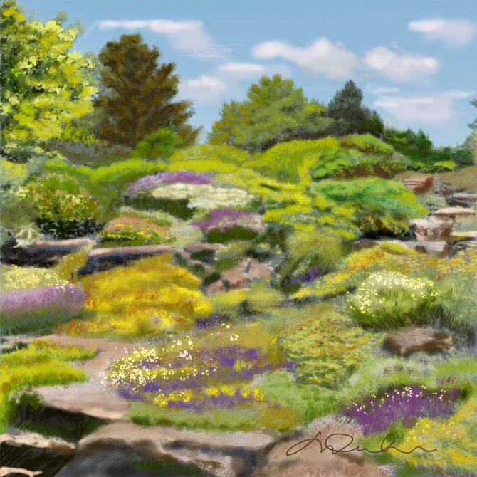 Rêver dans un jardin