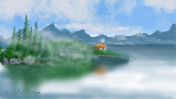 L'insulaire dans la brume