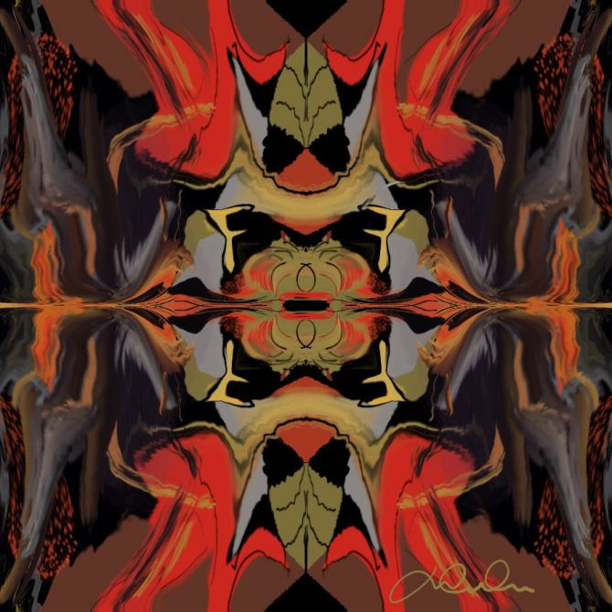 Miroir en distorsion
