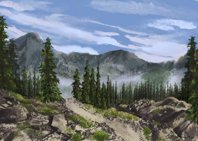 En haute montagne
