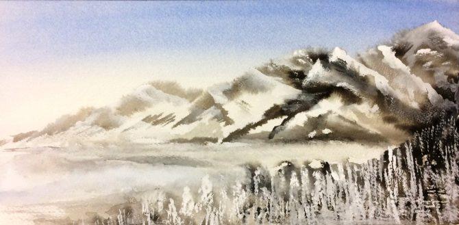 Montagnes au loin 1