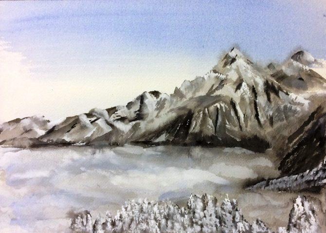 Montagnes au loin 2