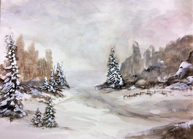 Une journée d'hiver en campagne